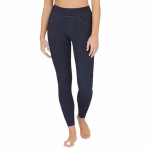 SPANX blue Jean-ish ankle length leggings Small